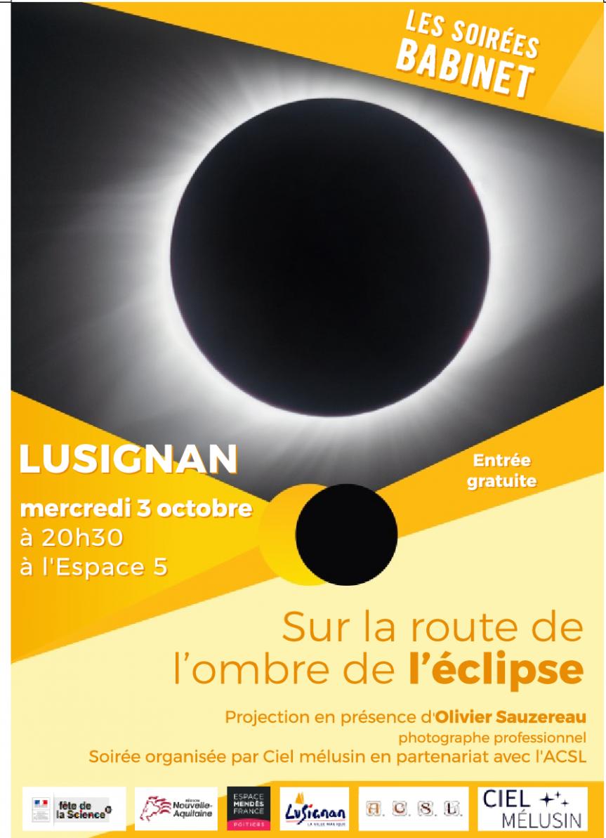 """Projection du film """"Sur la route de l'ombre de l'éclipse"""" ce 3 octobre"""