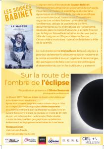 flyer octobre -Sur la route de l'ombre de l'éclipse2