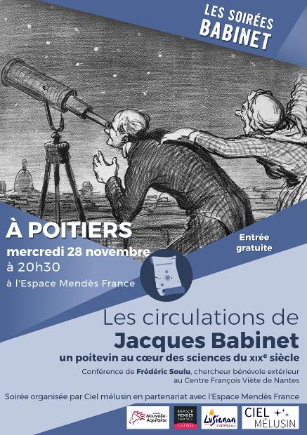 Les circulations de Jacques Babinet – un poitevin au cœur des sciences du XIXe siècle