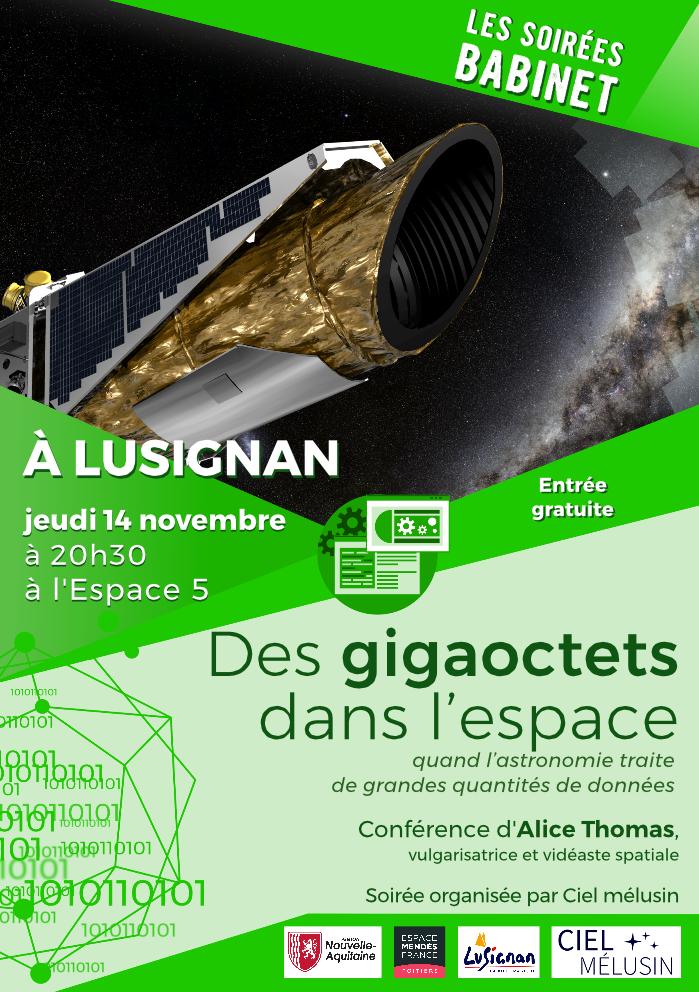 Des gigaoctets dans l'espace